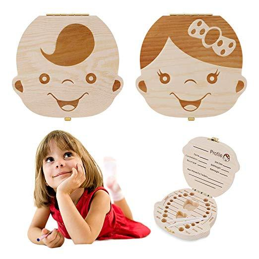 Deluxe Wooden Baby Tooth Box