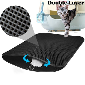Durable Double Layer Waterproof Cat Litter Mat
