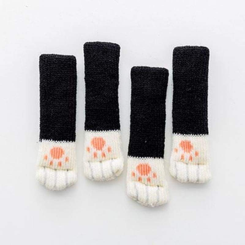Cute Cat Paw Socks (4 Pack) - [Restocked] - Black