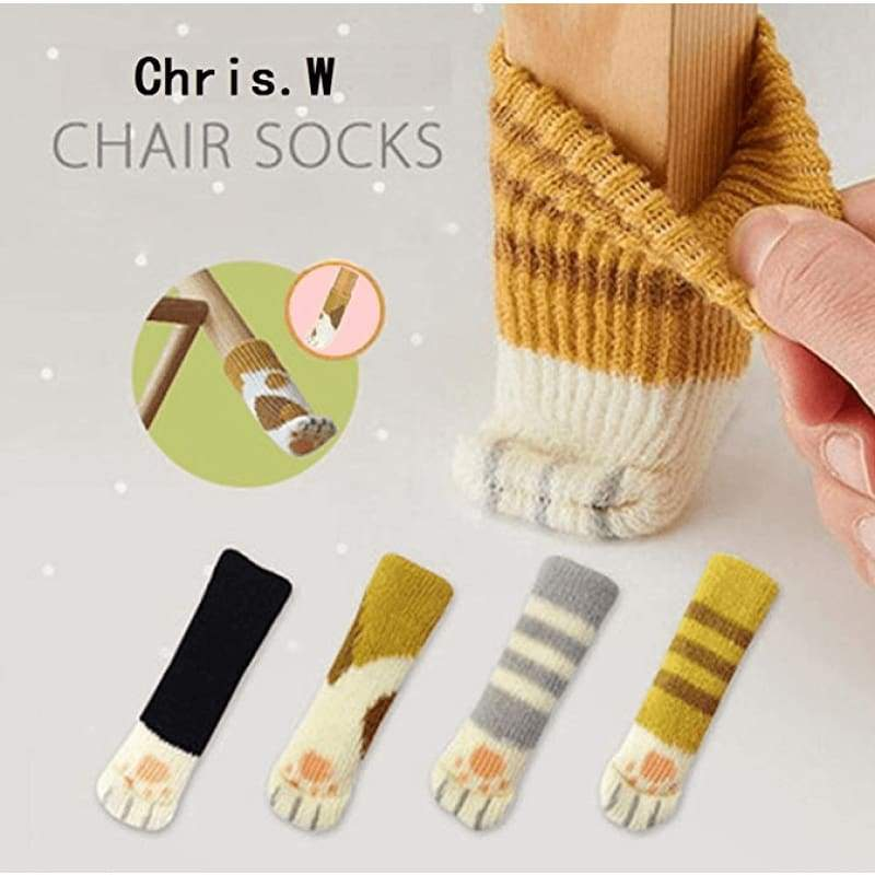 Cute Cat Paw Socks (4 Pack) - [Restocked]