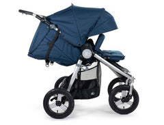 2020 Bumbleride Indie Twin Double Stroller in Maritime Blue - Profile