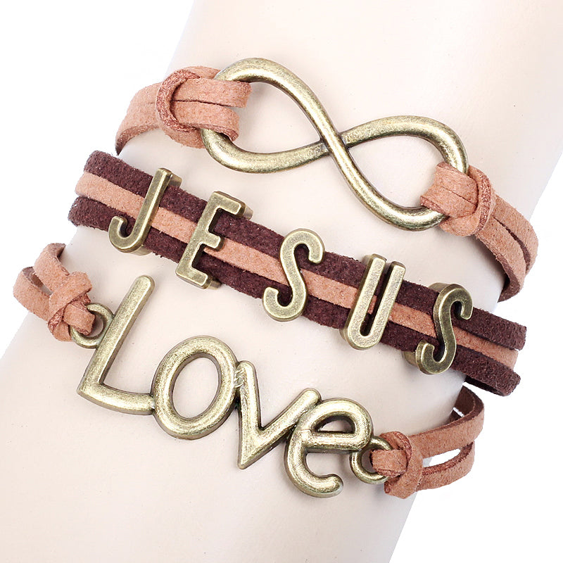 Women's JESUS IS LOVE Vintage Fashion Bangle