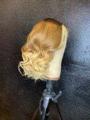 Custom colored lace front unit