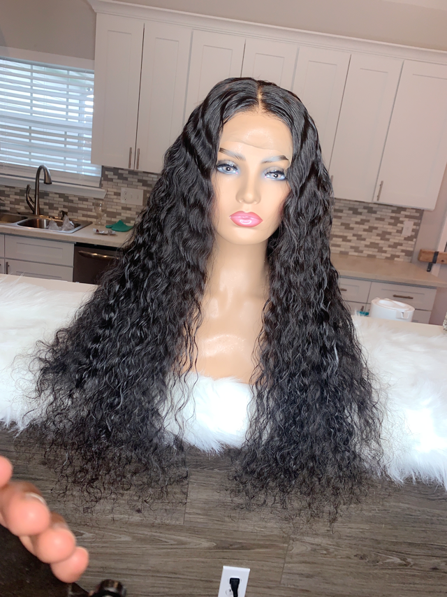 24 inch 150% density Deep Body Wave lace front wig!!
