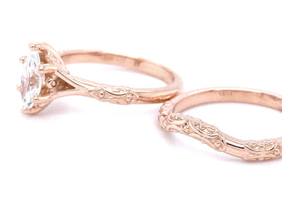 wedding-ring-set-moissanite-rose-gold-wexford-jewelers