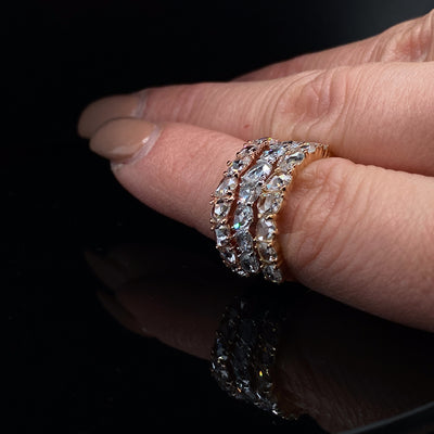 rose-cut-diamond-stacking-rings-wexford-jewelers