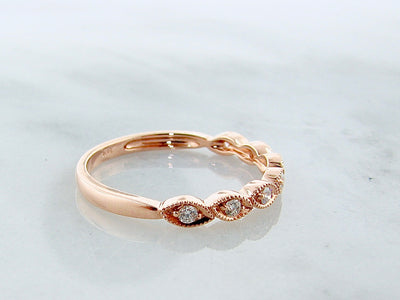 wexford-jewelers-vintage-milgrain-rose-gold-diamond-stacking-ring