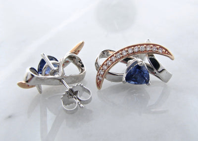 lab-tanzanite-white-gold-diamond-earring-stud-jackets-wexford-jewelers