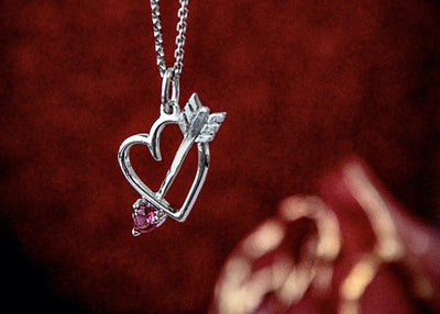 valentine's-day-silver-heart-arrow-gemstone-necklace-wexford-jewelers