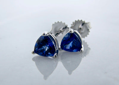 trillion-cut-tanzanite-white-gold-earring-studs-wexford-jewelers