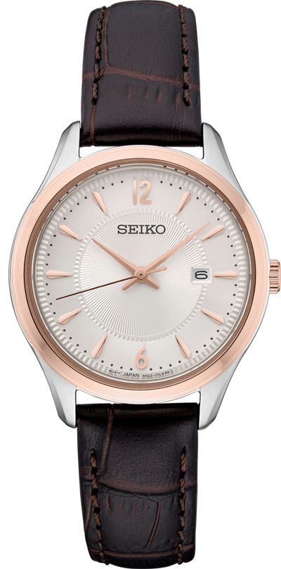 SEIKO Women's Two Tone Leather Band Watch