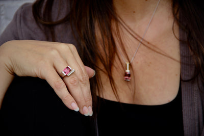 ring-set-pendant-tourmaline-pink-pinks-hair
