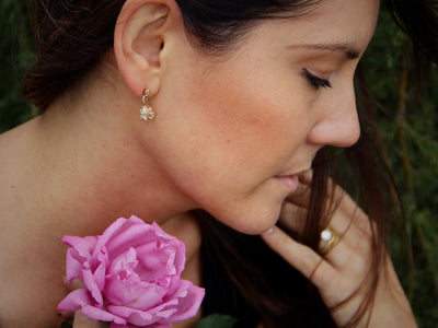 roses-rosepetals-golden-drop-earrings-ears