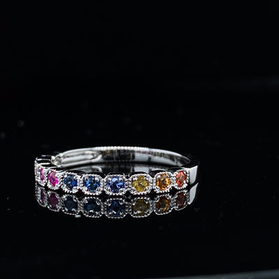 Multi Colored Sapphire My Precious Band