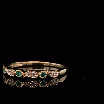 yellow-gold-tourmaline-ring-diamond-accent-wexford-jewelers