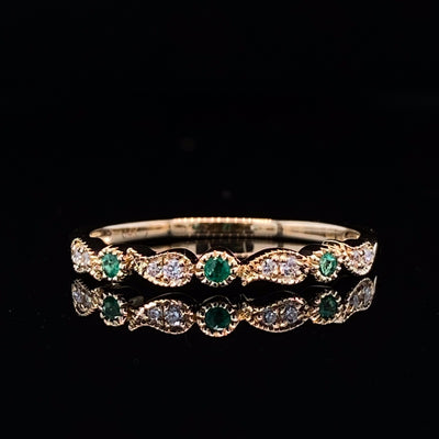 yellow-gold-emerald-vintage-stacking-ring-wexford-jewelers