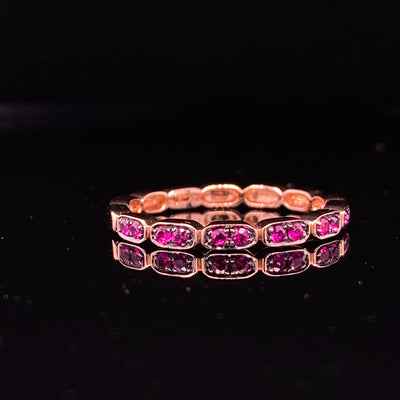 Ruby Rose Gold Stacking Ring, Gondola