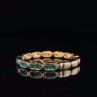 Emerald Yellow Gold Stacking Ring, Gondola