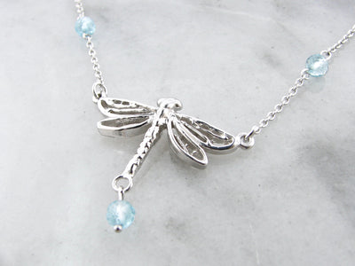 dragonfly-silver-blue-topaz-necklace-wexford-jewelers