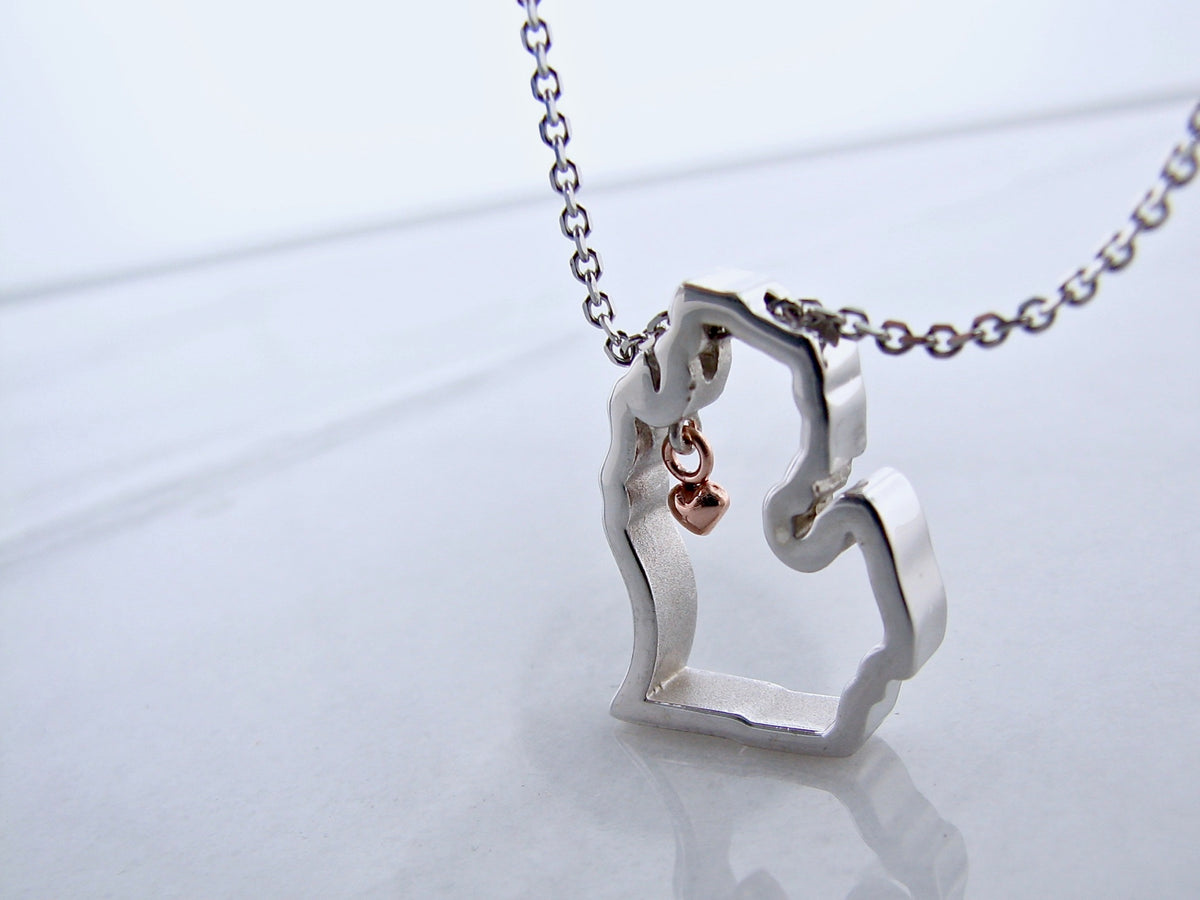 rose-gold-silver-michigan-necklace-mitten-love-wexford-jewelers