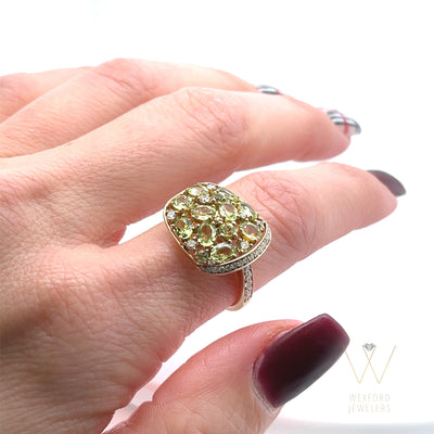 Paved in Peridot Ring