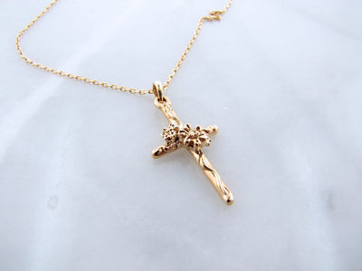 yellow-gold-daisy-cross-necklace-wexford-jewelers