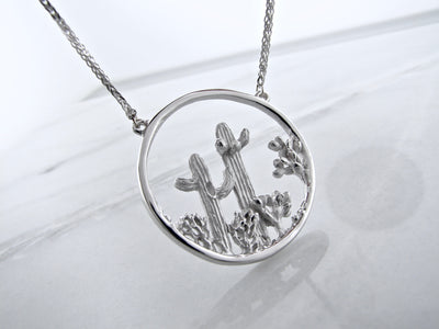 silver-desert-scenery-silver-necklace-split-chain-necklace