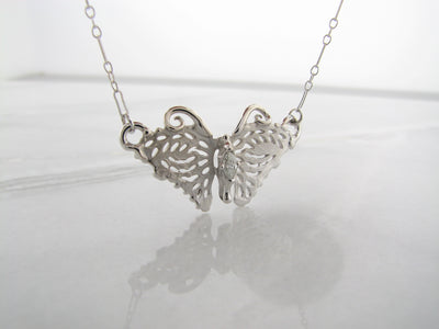 silver-necklace-butterfly-split-chain-diamond-wexford-jewelers