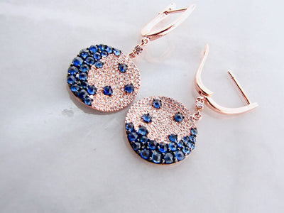wexford-jewelers-lever-back-rose-gold-diamond-sapphire-earrings