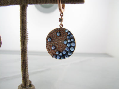 rose-cut-diamond-blue-sapphire-rose-gold-earrings