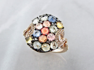 rose-cut-sapphire-diamond-yellow-gold-ring-wexford-jewelers