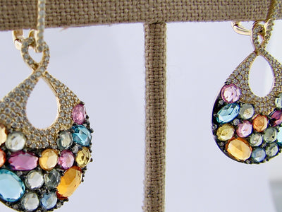 multi-gemstone-rose-cut-diamond-earrings-wexford-jewelers