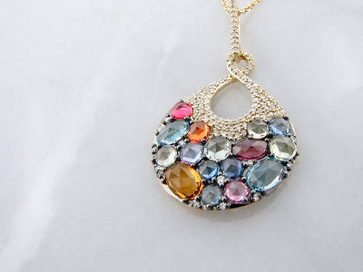 multi-colored-gemstone-pave-diamond-necklace-wexford-jewelers