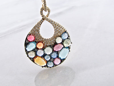 yellow-gold-diamond-pave-rose-cut-gemstone-pendant-wexford-jewelers