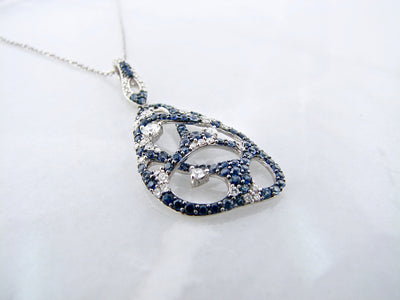 diamond-necklace-sapphire-white-gold-wexford-jewelers