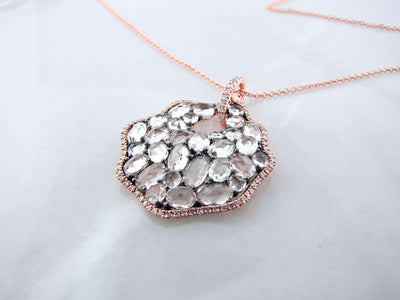 rose-cut-topaz-diamond-rose-gold-necklace-wexford-jewelers
