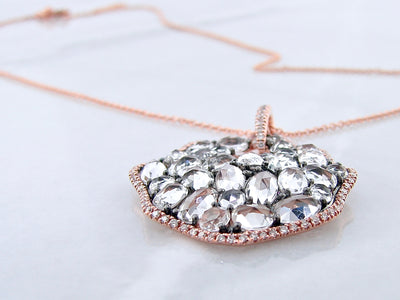 wexford-jewelers-rose-gold-rose-cut-white-topaz-necklace