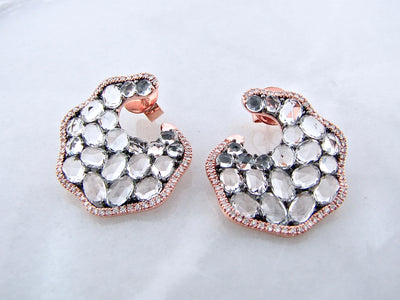 rose-cut-white-topaz-diamond-rose-gold-earrings-wexford-jewelers