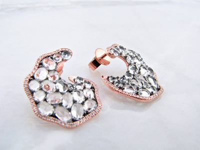 wexford-jewelers-scalloped-rose-gold-rose-cut-topaz-earrings