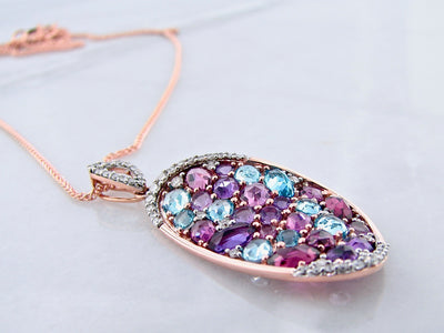 rose-gold-rose-cut-amethyst-blue-topaz-diamond-pendant-wexford-jewelers