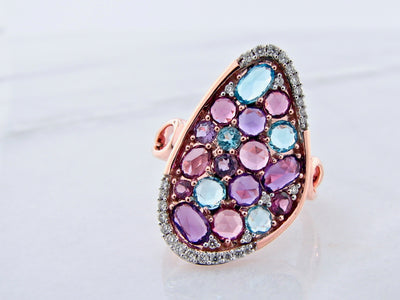 rose-gold-ring-blue-topaz-garnet-amethyst-diamond-wexford-jewelers