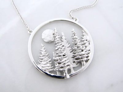 Pine-tree-moon-silver-necklace-wexford-jewelers