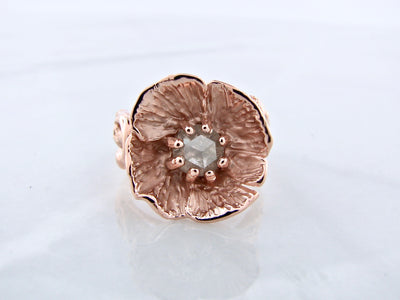 poppy-flower-shaped-rose-gold-diamond-ring-wexford-jewelers
