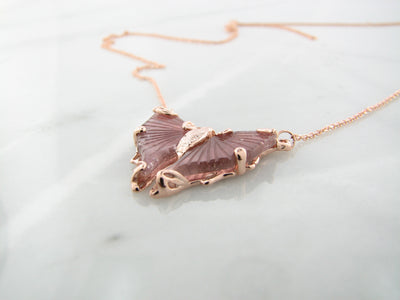 pink-tourmaline-rose-gold-gemstone-necklace-wexford-jewelers