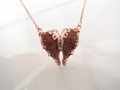 pink-tourmaline-rose-gold-butterfly-necklace-wexford-jewelers