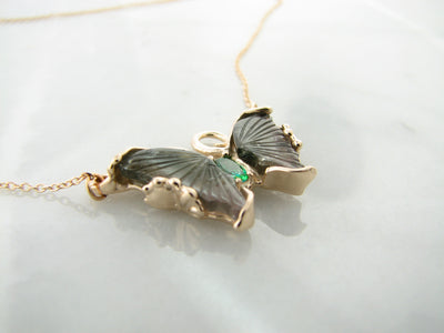 yellow-gold-tourmaline-necklace-butterfly-wexford-jewelers