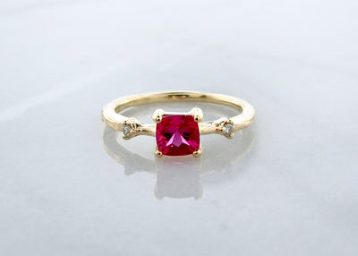 pink-tourmaline-18K-yellow-gold-diamond-ring-wexford-jewelers