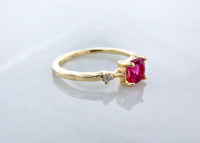 pink-tourmaline-diamond-yellow-gold-ring-rustic