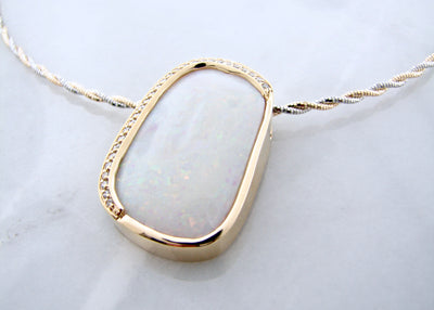 yellow-gold-diamond-accent-opal-necklace-wexford-jewelers