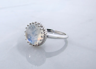 Moonstone Silver Ring, Marrakesh